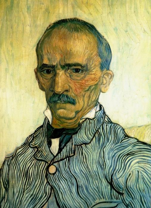 Papier peint vinyle Vincent van Gogh - Portrait de Monsieur Trabuc, intendant de l'hôpital Saint-Paul - Reproductions