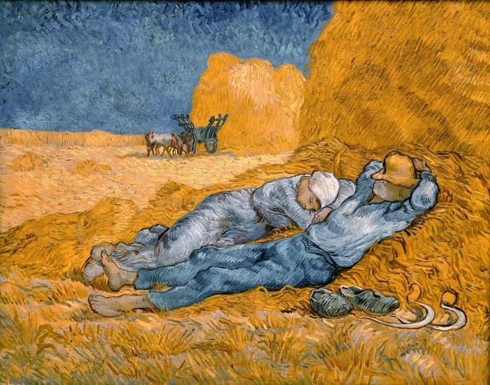 Naklejka Pixerstick Vincent van Gogh - Południowa siesta - Reproductions