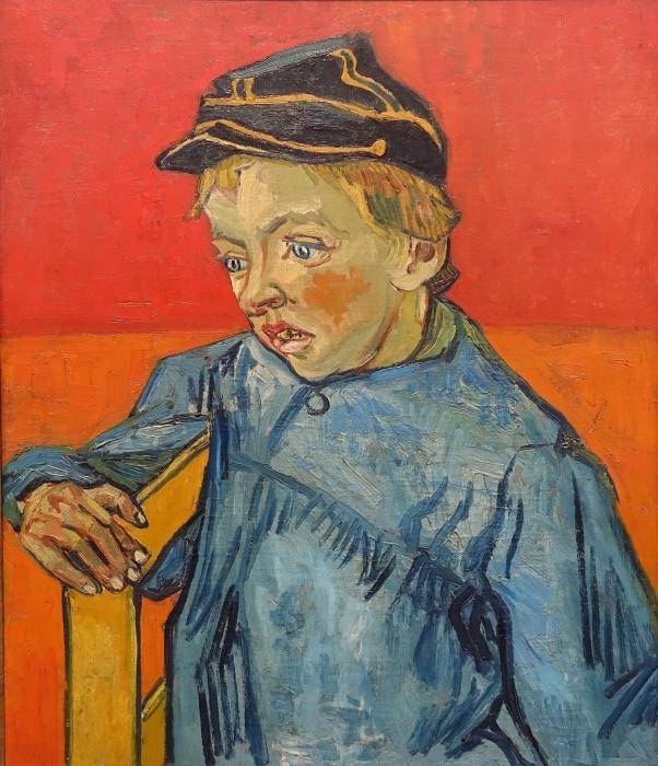 Papier peint vinyle Vincent van Gogh - Portrait de Camille Roulin - Reproductions