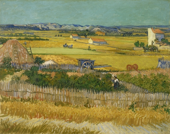 Pixerstick Aufkleber Vincent van Gogh - Ernte - Reproductions