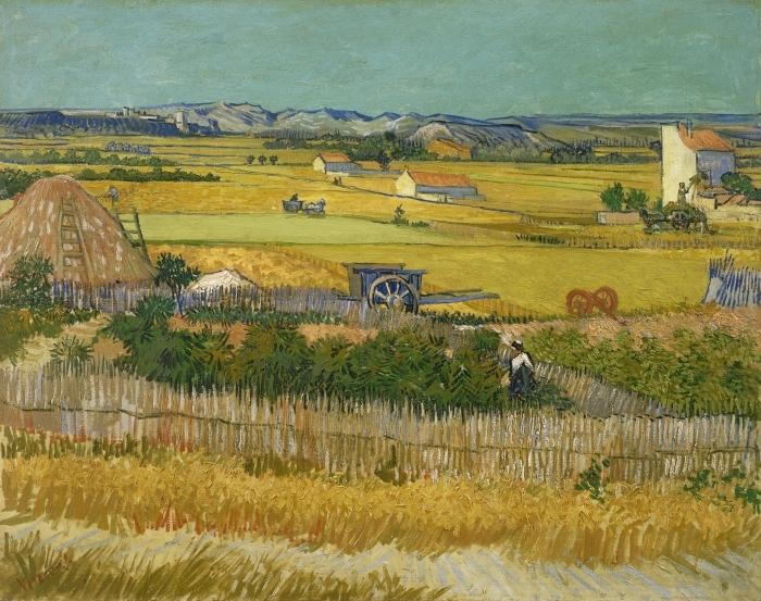 Sticker Pixerstick Vincent van Gogh - Récolte - Reproductions