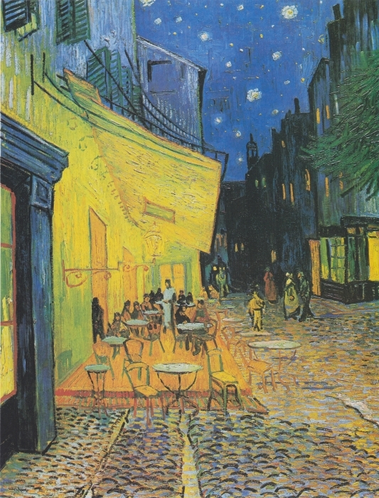 Sticker Pixerstick Vincent van Gogh - Terrasse du café le soir - Reproductions