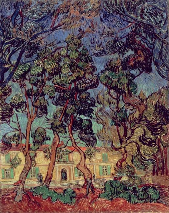 Pixerstick Aufkleber Vincent van Gogh - Das Hospital in Saint-Rémy - Reproductions