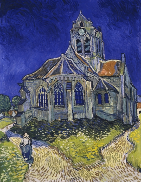 Pixerstick Aufkleber Vincent van Gogh - Die Kirche von Auvers - Reproductions
