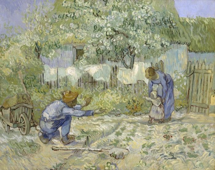 Naklejka Pixerstick Vincent van Gogh - Pierwsze kroki - Reproductions