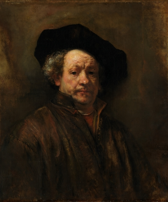 Vinyl-Fototapete Rembrandt - Selbstporträt - Reproduktion