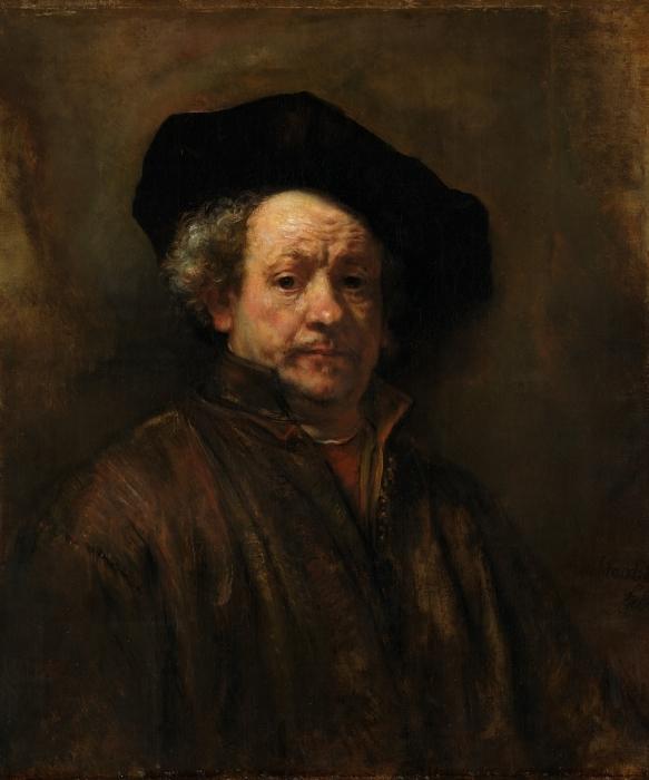 Naklejka Pixerstick Rembrandt - Autoportret - Reprodukcje
