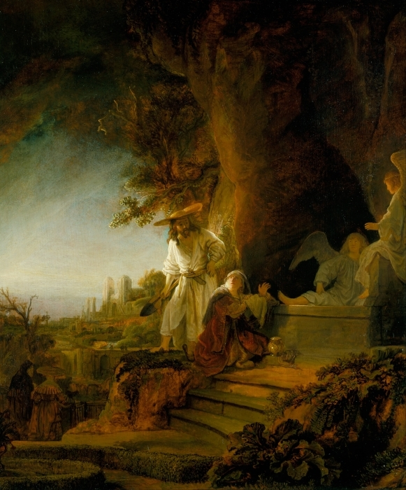 Naklejka Pixerstick Rembrandt - Noli me tangere - Reprodukcje
