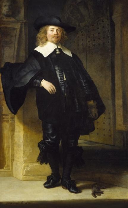 Pixerstick Aufkleber Rembrandt - Porträt des Andries de Graeff - Reproduktion