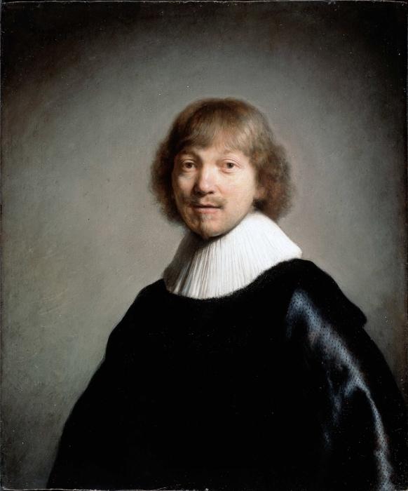 Naklejka Pixerstick Rembrandt - Portret Jacquesa III de Gheyn - Reprodukcje