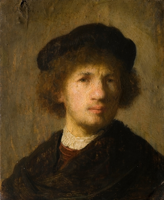 Sticker Pixerstick Rembrandt - Autoportrait - Reproductions