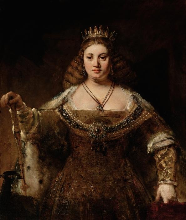 Naklejka Pixerstick Rembrandt - Junona - Reprodukcje