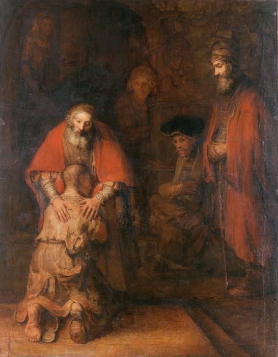 Naklejka Pixerstick Rembrandt - Powrót syna marnotrawnego - Reprodukcje