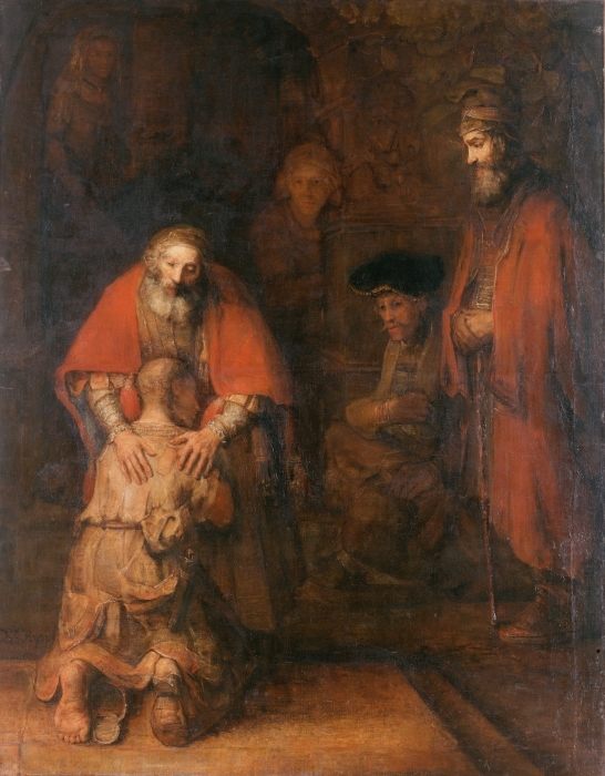 Rembrandt - The Return of the Prodigal Son Pixerstick Sticker - Reproductions