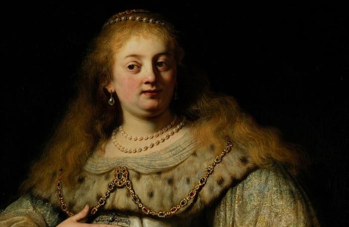 Naklejka Pixerstick Rembrandt - Artemizja - Reprodukcje