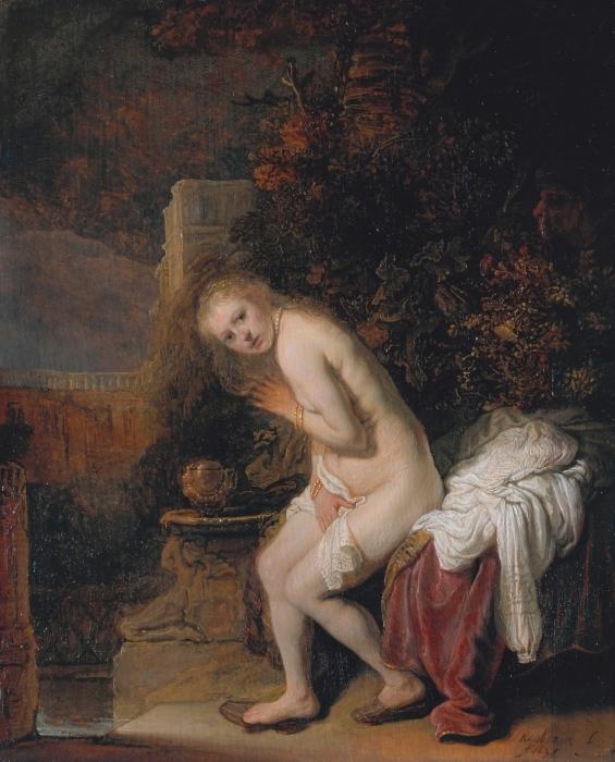 Pixerstick Aufkleber Rembrandt - Susanna und die beiden Alten - Reproduktion