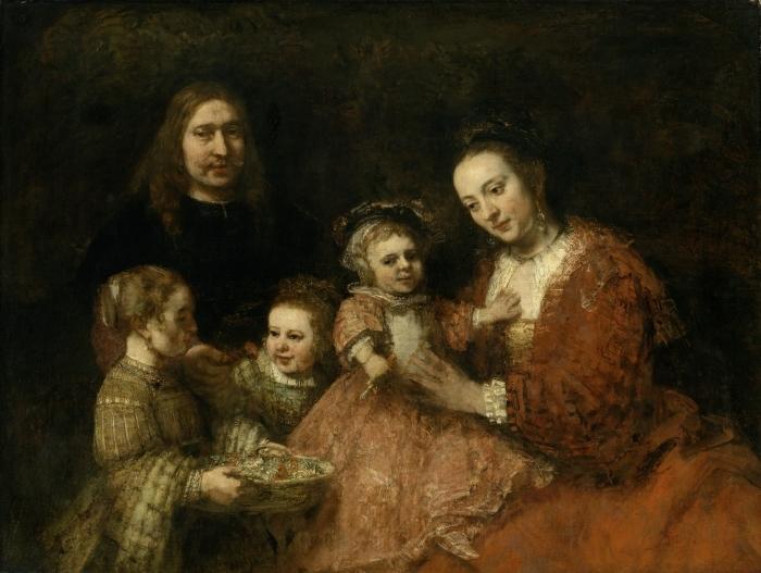 Papier peint vinyle Rembrandt - Portrait de famille - Reproductions