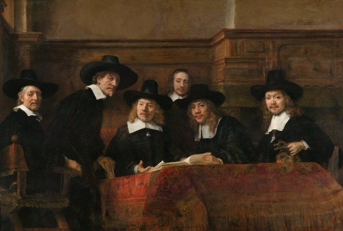 Papier peint vinyle Rembrandt - Le Syndic de la guilde des drapiers - Reproductions
