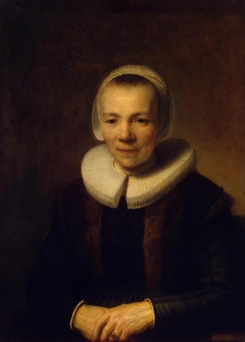 Rembrandt - Portrait of Baertje Martens Pixerstick Sticker - Reproductions