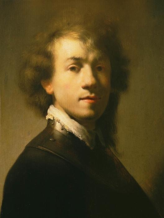 Sticker Pixerstick Rembrandt - Autoportrait avec Gorget et Beret - Reproductions