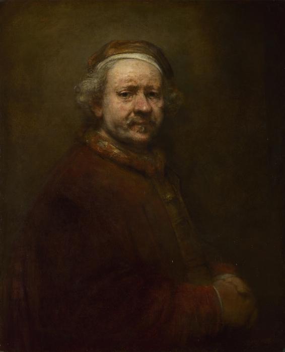Naklejka Pixerstick Rembrandt - Autoportret w wieku 63 lat - Reprodukcje