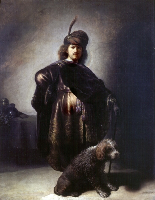 Pixerstick Aufkleber Rembrandt - Selbstbildnis in orientalischer Kleidung - Reproduktion