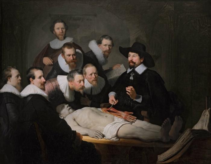Naklejka Pixerstick Rembrandt - Lekcja anatomii doktora Tulpa - Reprodukcje
