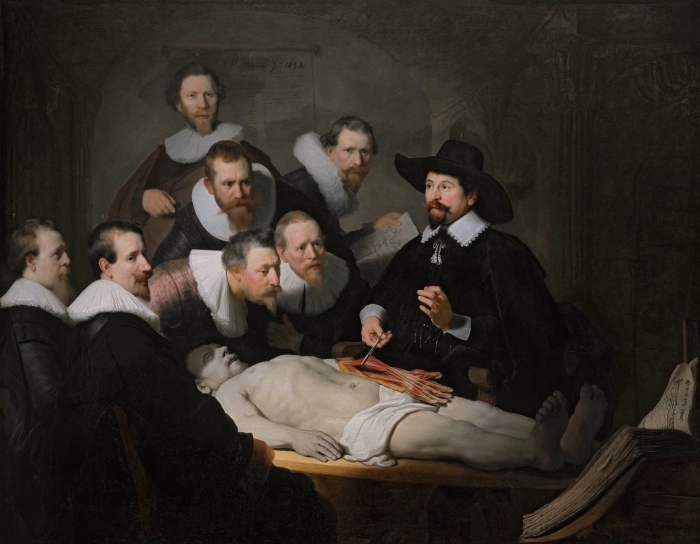 Papier peint vinyle Rembrandt - La Leçon d'anatomie du docteur Tulp - Reproductions