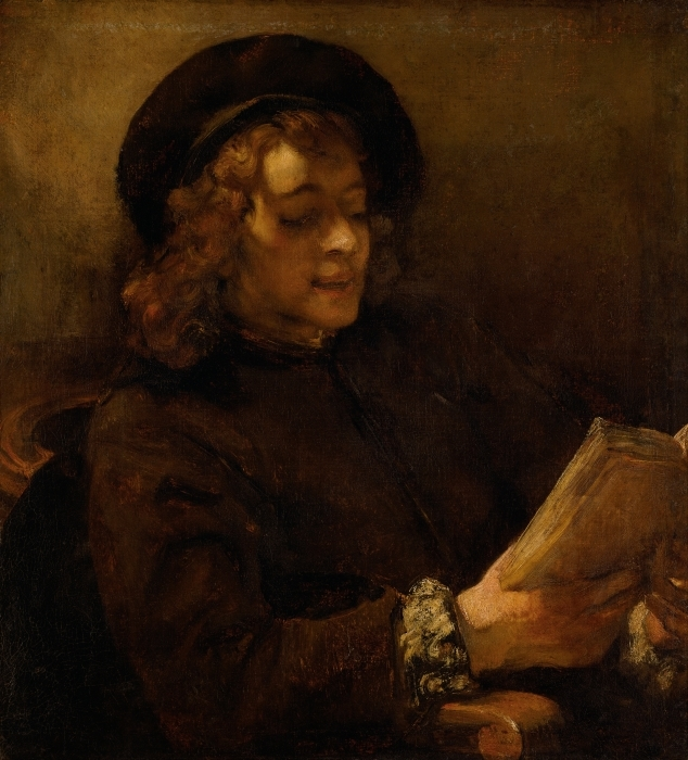 Papier peint vinyle Rembrandt - Titus en train de lire - Reproductions