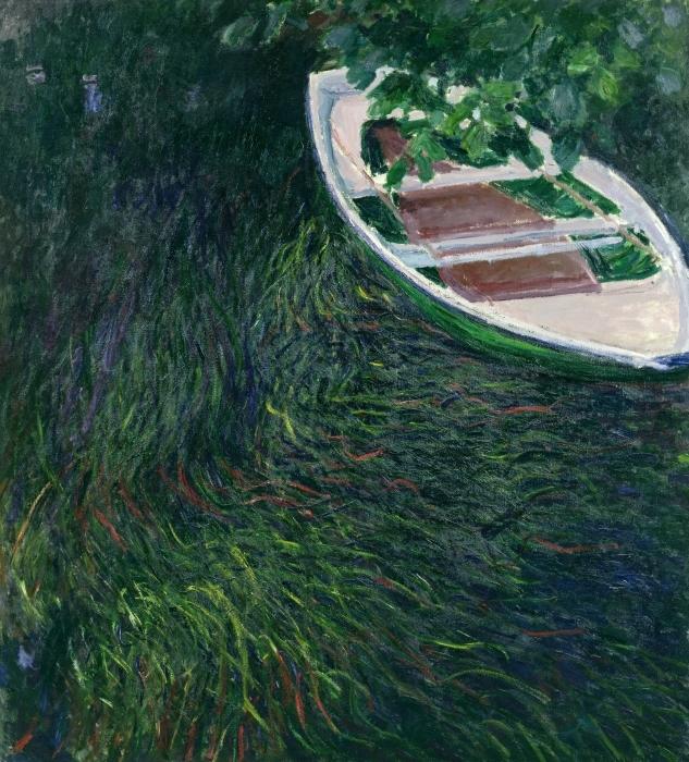 Papier peint vinyle Claude Monet - La Barque - Reproductions