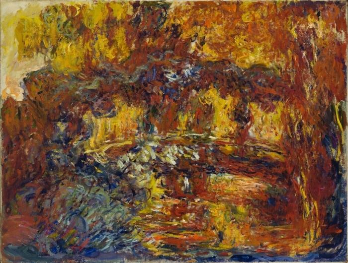 Papier peint vinyle Claude Monet - Le pont japonais - Reproductions