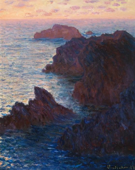 Vinilo Pixerstick Claude Monet - Puerto Domois en la belleza Ile - Reproducciones