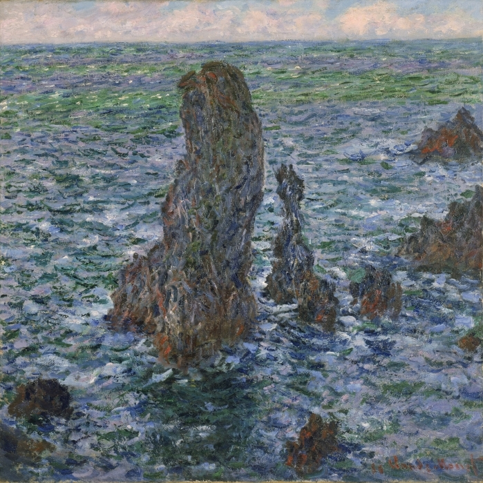 Claude Monet - The Rocks at Belle Ile Vinyl Wall Mural - Reproductions
