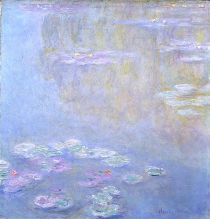Pixerstick Aufkleber Claude Monet - Seerosen in Giverny - Reproduktion