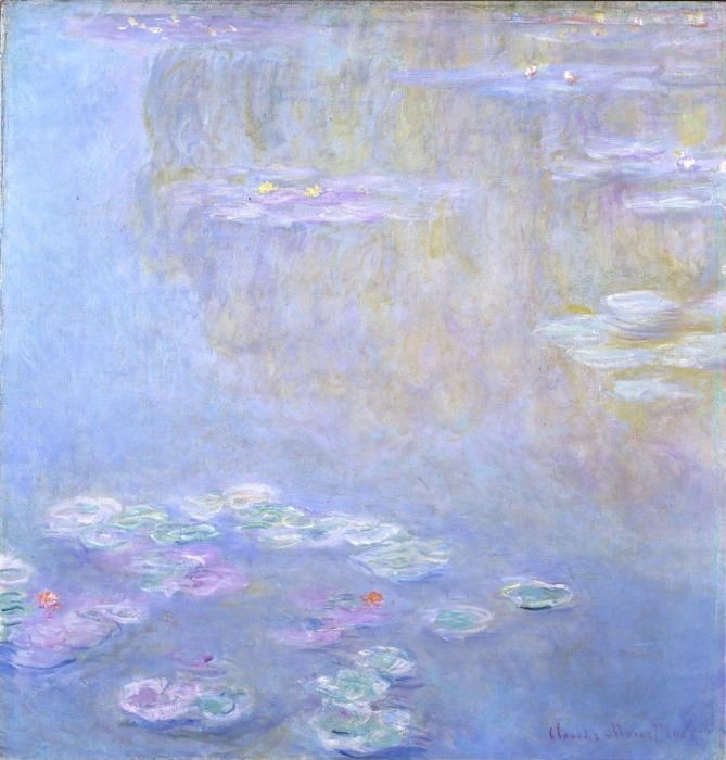 Claude Monet - Nympheas at Giverny Pixerstick Sticker - Reproductions