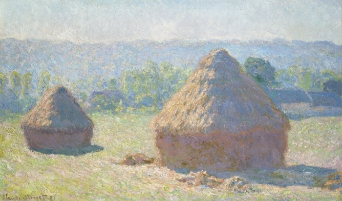 Naklejka Pixerstick Claude Monet - Stogi - Reprodukcje