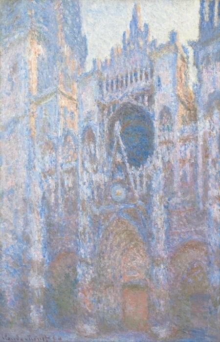 Pixerstick Aufkleber Claude Monet - Kathedrale von Rouen - Reproduktion