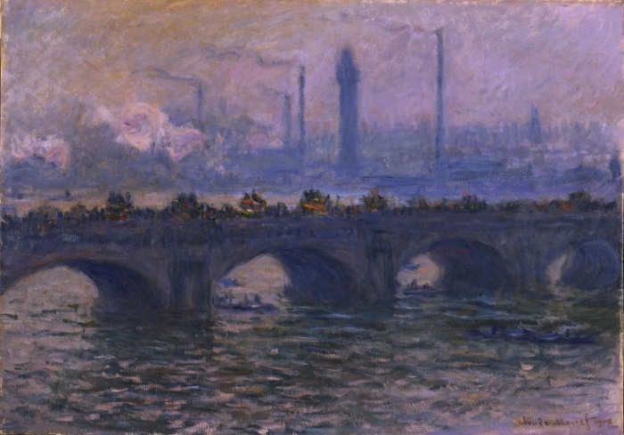 Fototapeta winylowa Claude Monet - Most w Waterloo - Reprodukcje