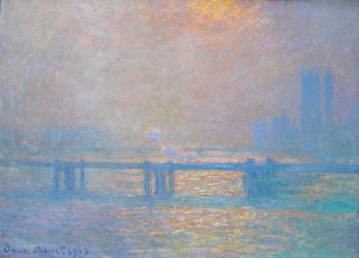 Naklejka Pixerstick Claude Monet - Charing Cross Bridge - Reprodukcje