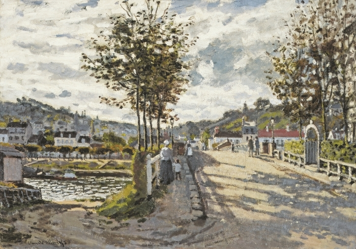 Papier peint vinyle Claude Monet - Le Pont de Bougival - Reproductions