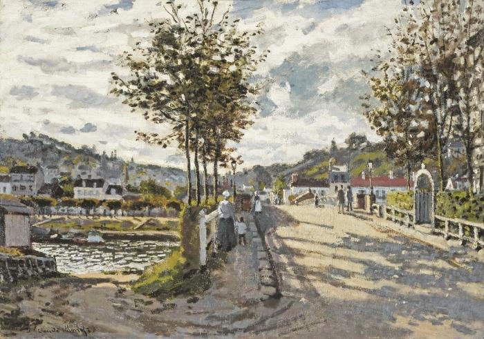 Vinilo Pixerstick Claude Monet - Puente en Bougival - Reproducciones