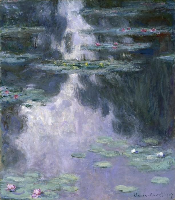 Naklejka Pixerstick Claude Monet - Lilie wodne - Reprodukcje