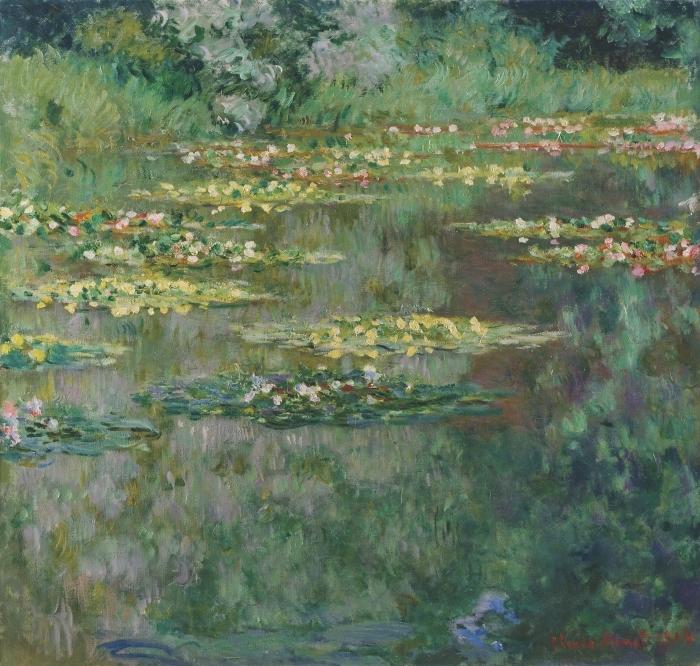 Papier peint vinyle Claude Monet - Nymphéas - Reproductions