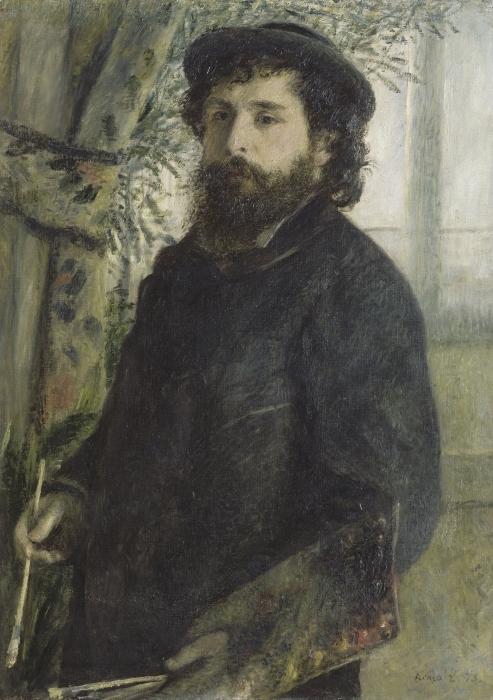 Auguste Renoir - Portrait of Claude Monet Pixerstick Sticker - Reproductions