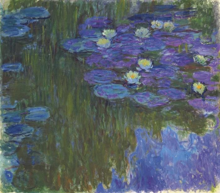 Carta da Parati in Vinile Claude Monet - Ninfee - Riproduzioni