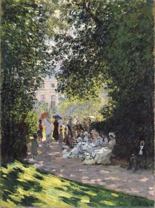 Papier peint vinyle Claude Monet - Parc Monceau - Reproductions