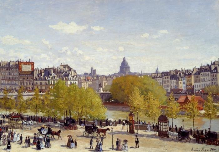 Papier peint vinyle Claude Monet - Quai du Louvre - Reproductions