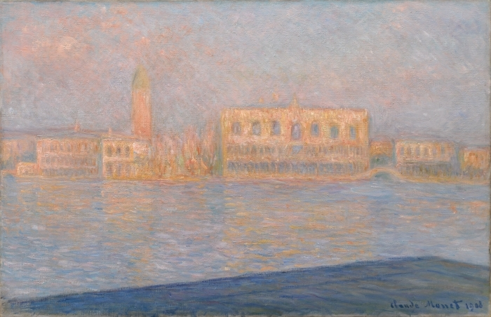 Claude Monet - View of Doge's Palace from San Giorgio Maggiore Pixerstick Sticker - Reproductions