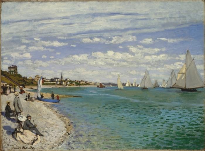 Claude Monet - Regatta at Sainte-Adresse Pixerstick Sticker - Reproductions