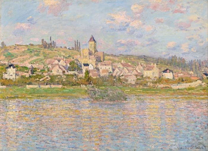 Papier peint vinyle Claude Monet - Vétheuil - Reproductions
